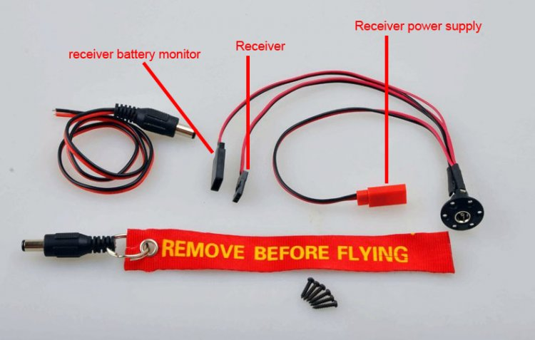 Receiver charge switch for rc airplane - Click Image to Close