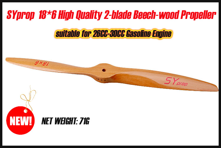 Syprop 18X6 Beech Wood Propeller - Click Image to Close